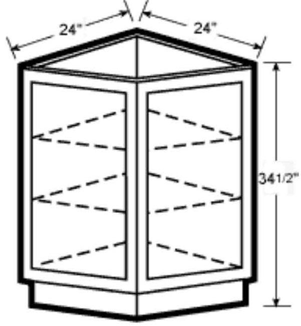 Angle End Base Cabinet